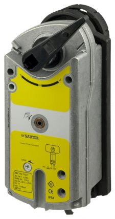 Rotary actuator with spring return for control ball valves