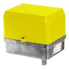 Motorised actuator with positioner